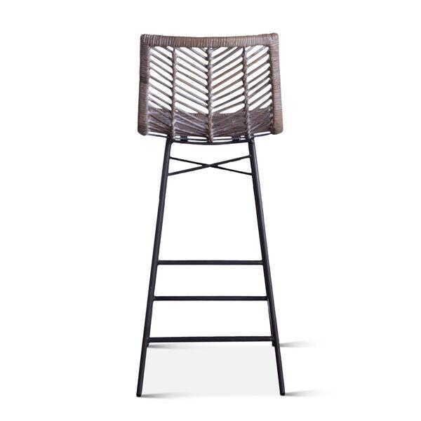 Bali Gray Whitewash Bar Chair, Set of 2, image 5