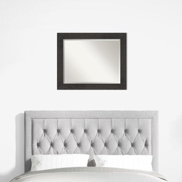 Espresso Frame 33W X 27H-Inch Bathroom Vanity Wall Mirror, image 6