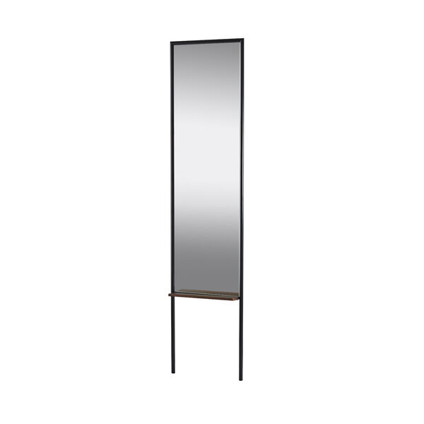 Monty Black and Walnut Leaning Mirror, image 1