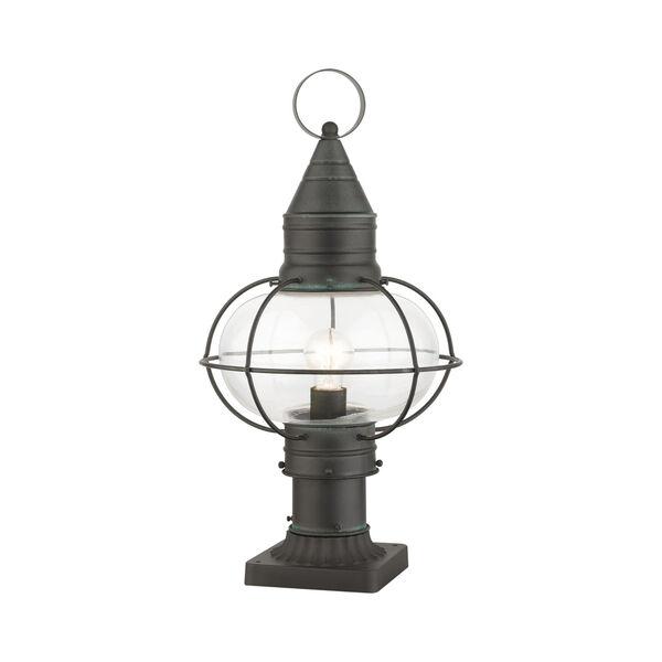 Newburyport Charcoal 11-Inch One-Light Outdoor Post Lantern, image 4