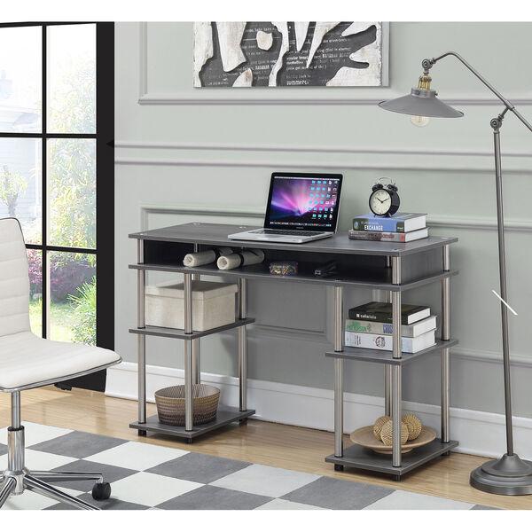 Designs2Go Charcoal Gray No Tools Student Desk, image 3
