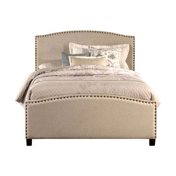 Whittier Light Taupe Full Complete Bed With Rails, image 1