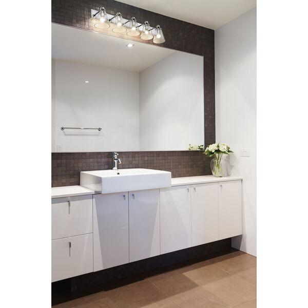 Harper Chrome Five-Light Bath Vanity, image 2
