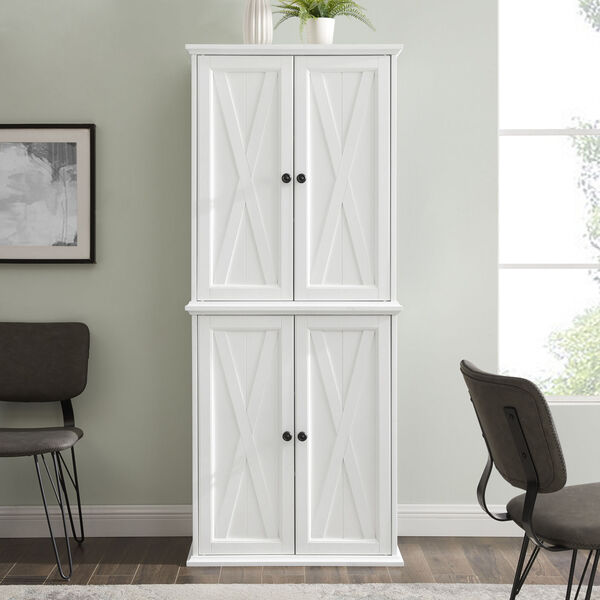 Clifton Distressed White Tall Kitchen Pantry, image 6