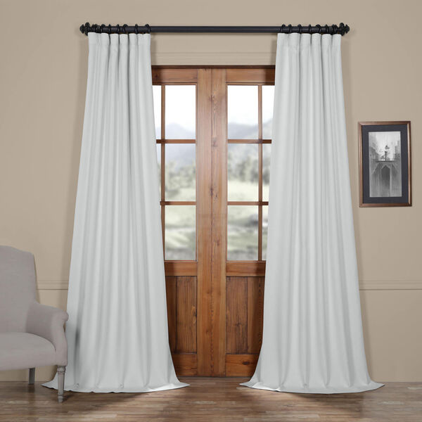 White Oyster 84 x 50 In. Faux Linen Blackout Curtain Single Panel, image 1