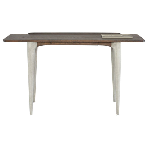 Exeter Walnut and Gray Side Table, image 2