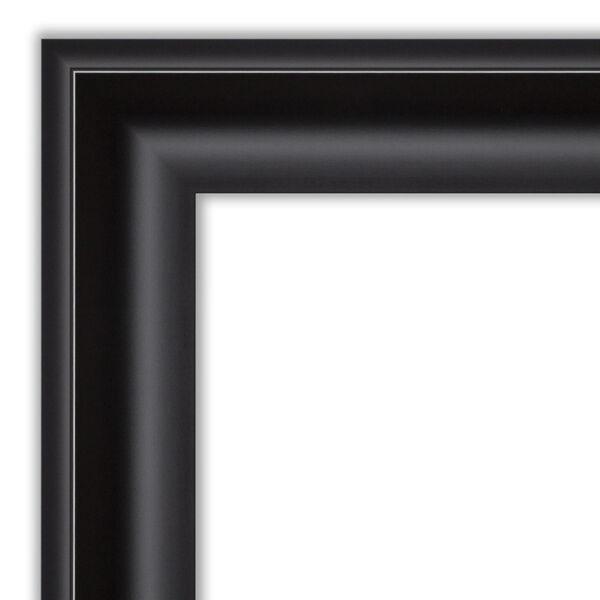 Black 44W X 34H-Inch Bathroom Vanity Wall Mirror, image 2
