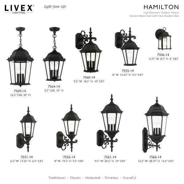 Hamilton Textured Black Four-Light Outdoor Post Lantern, image 6