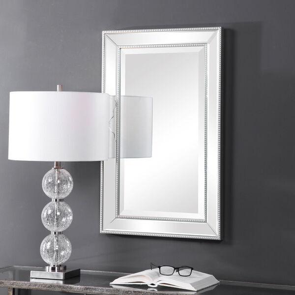 Monroe Silver Framed Rectangular Wall Mirror, image 1