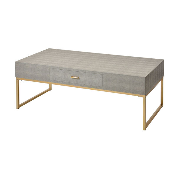 Les Revoires Grey with Gold Coffee Table, image 1