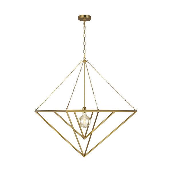 Carat Burnished Brass 30-Inch One-Light Pendant, image 1