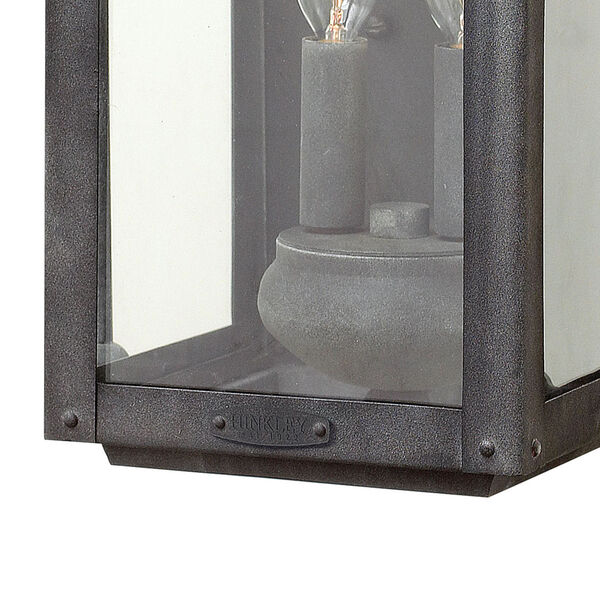 Anchorage Aged Zinc Two-Light Outdoor Wall Sconce, image 2