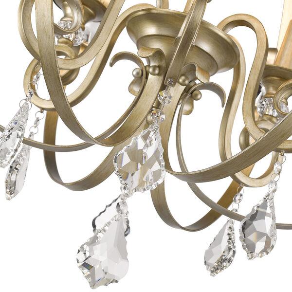 Ella White Gold Six-Light Chandelier, image 4