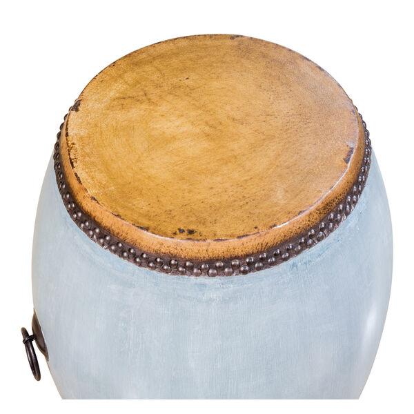 Blue Drum End Table, image 3