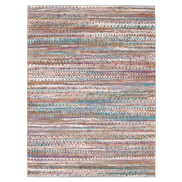 Meraki Wayward Multicolor Oyster Rug, image 1