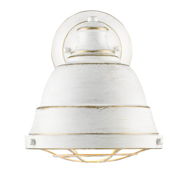 Bartlett French White One-Light Wall Sconce with French White Shade, image 1