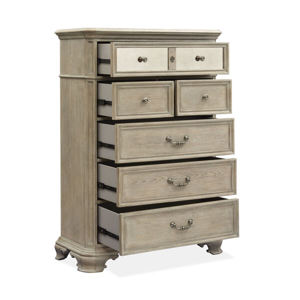 Jocelyn Weathered Taupe Drawer Chest, image 2