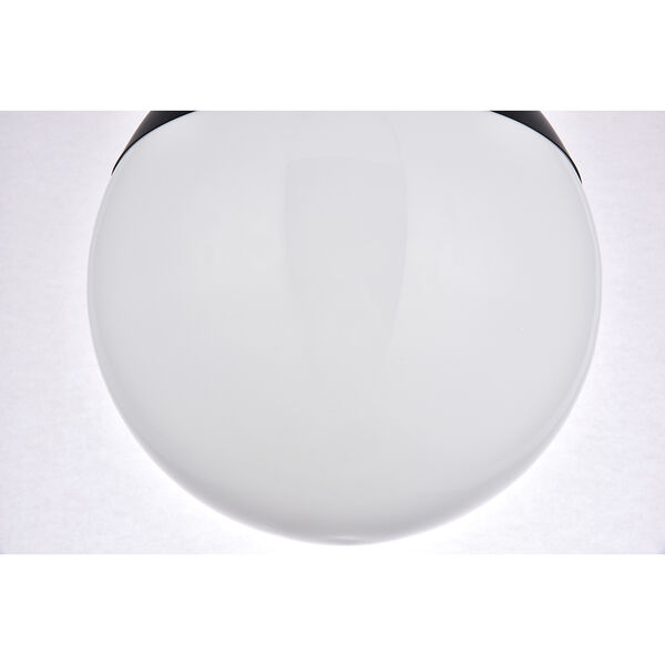 Eclipse Black and Frosted White 12-Inch One-Light Semi-Flush Mount, image 6