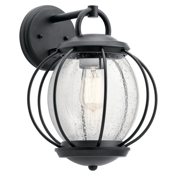 Vandalia Textured Black 11-Inch One-Light Outdoor Wall Light, image 1