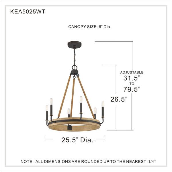 Kearney Western Bronze Six-Light Chandelier, image 2