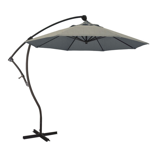 Bayside Bronze with Spectrum Dove Nine-Feet Sunbrella Patio Umbrella, image 1