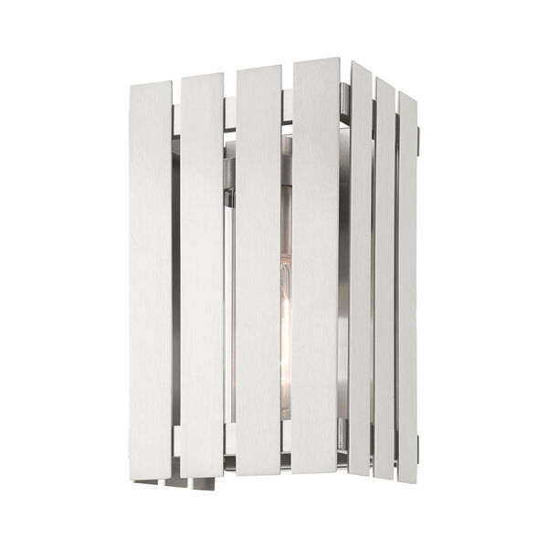 Greenwich Brushed Nickel 10-Inch One-Light Outdoor Wall Lantern, image 4