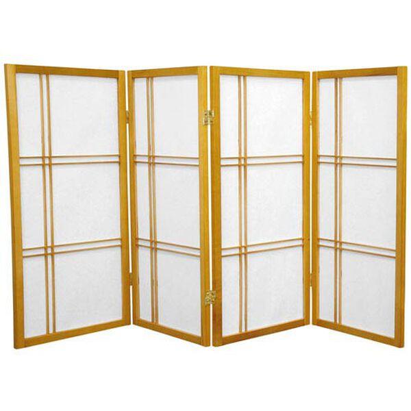 Three Ft. Tall Double Cross Shoji Screen, Width - 70 Inches, image 1