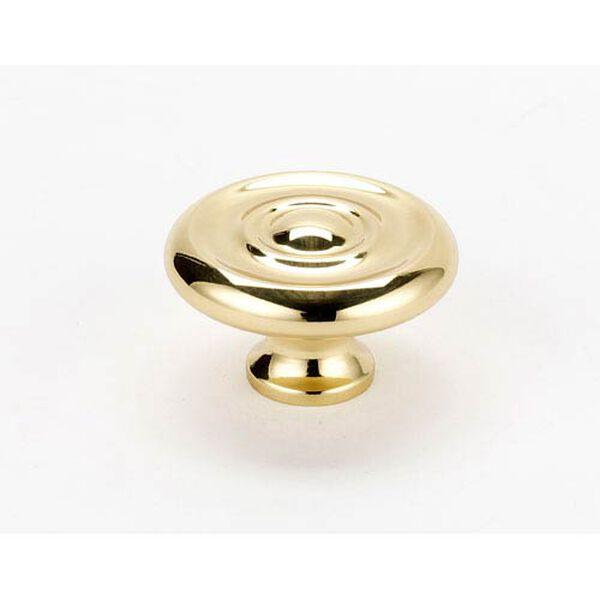 Polished Brass 1 3/4-Inch Knob, image 1