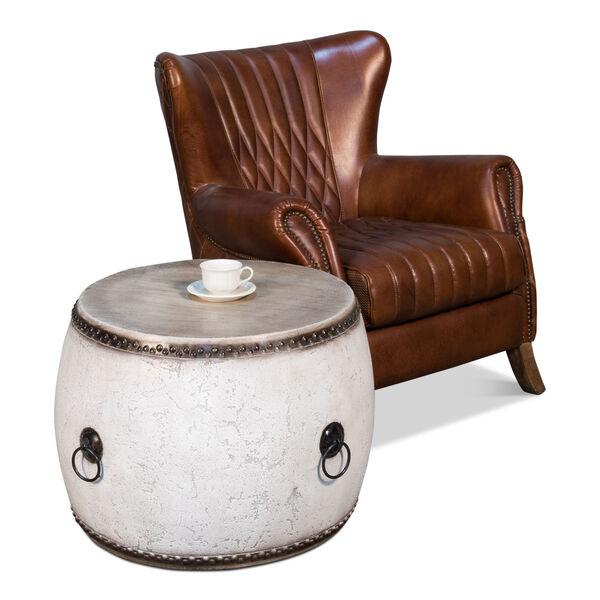 White  Drum Table, image 3