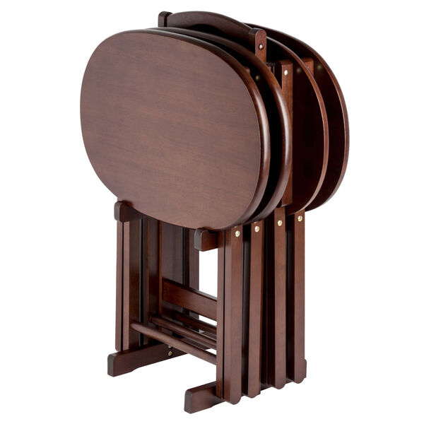 Nathan Cappuccino Five-Piece Snack Table Set, image 1