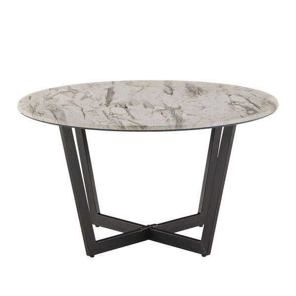 Danica White Faux Marble Coffee Table, image 3