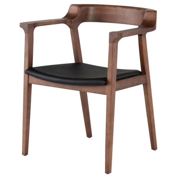 Caitlan Walnut and Black Dining Chair, image 1