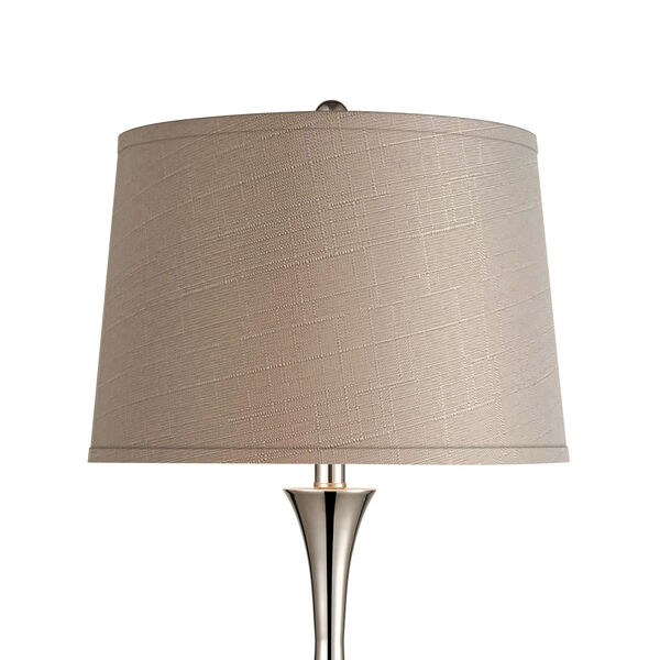 Septon Gray Concrete Polished Nickel One-Light Table Lamp, image 3