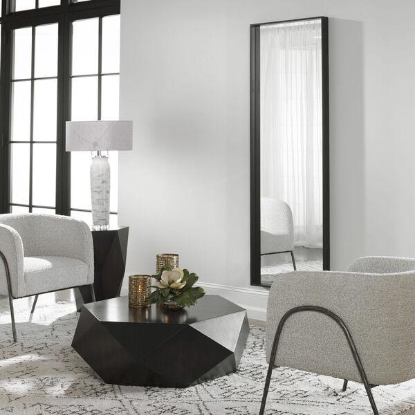Kahn Black Rectangular Mirror, image 1