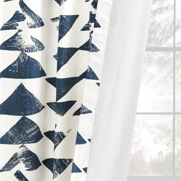 Triad Indigo 84 x 50 In. Printed Cotton Twill Curtain Single Panel, image 9
