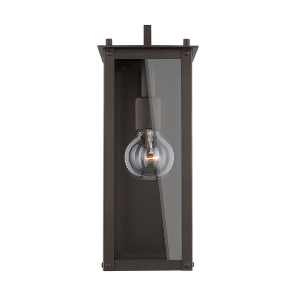 Hunt Oiled Bronze Six-Inch One-Light Outdoor Wall Lantern, image 1
