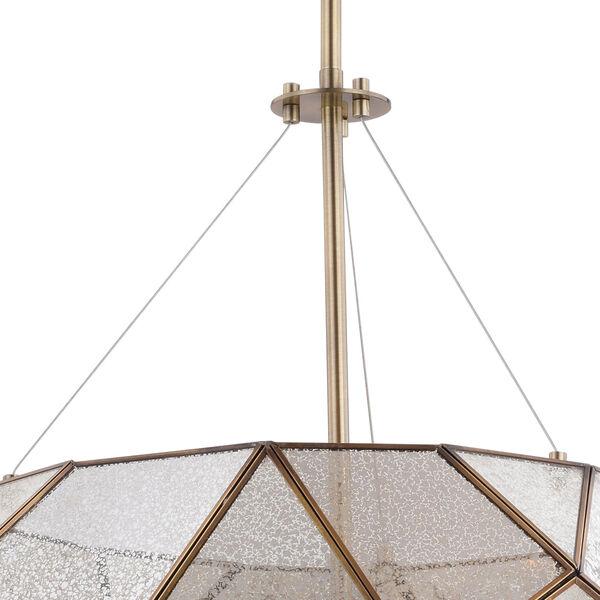 Euclid Aged Brass Three-Light Pendant, image 3