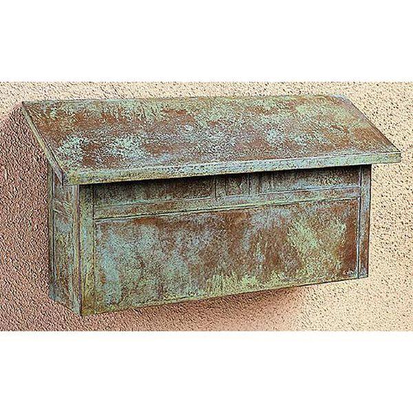 Mission Verdigris Patina Mail Box - Horizontal, image 1