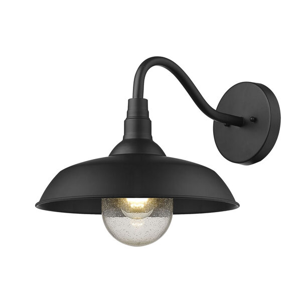Burry Matte Black 14-Inch One-Light Outdoor Wall Sconce, image 2