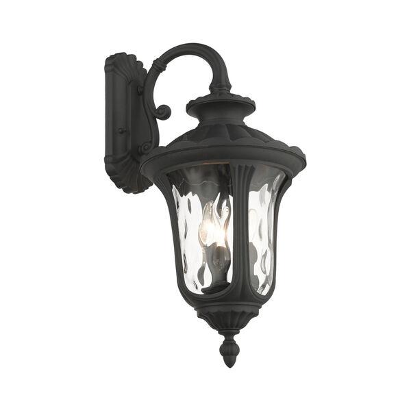 Oxford Textured Black 11-Inch Three-Light Outdoor Down Light Wall Lantern, image 4
