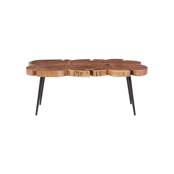 Aurelio Brown and Black Live Edge Large Coffee Table, image 5