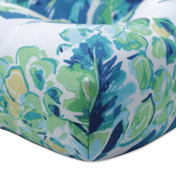 Vida Blue Green White Loveseat Cushion, image 2