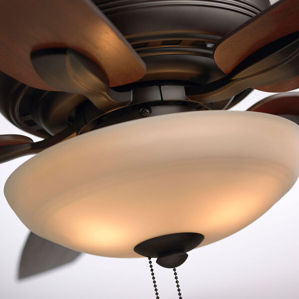 Pro Series Oil Rubbed Bronze Ashland Three Light Ceiling Fan, image 8
