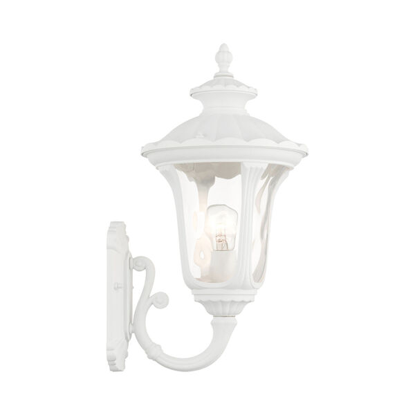Oxford Textured White 10-Inch One-Light Outdoor Wall Lantern, image 5