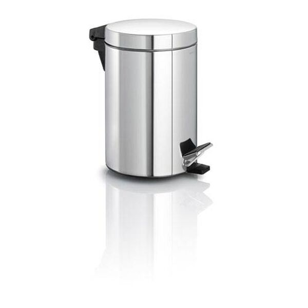 Nexio Polished Stainless Steel Pedal Bin Waste Can, image 1
