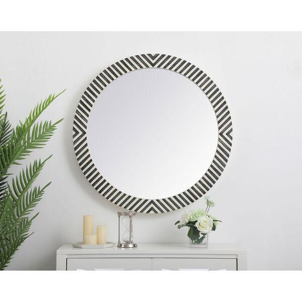 Colette Chevron 32-Inch Round Mirror, image 2