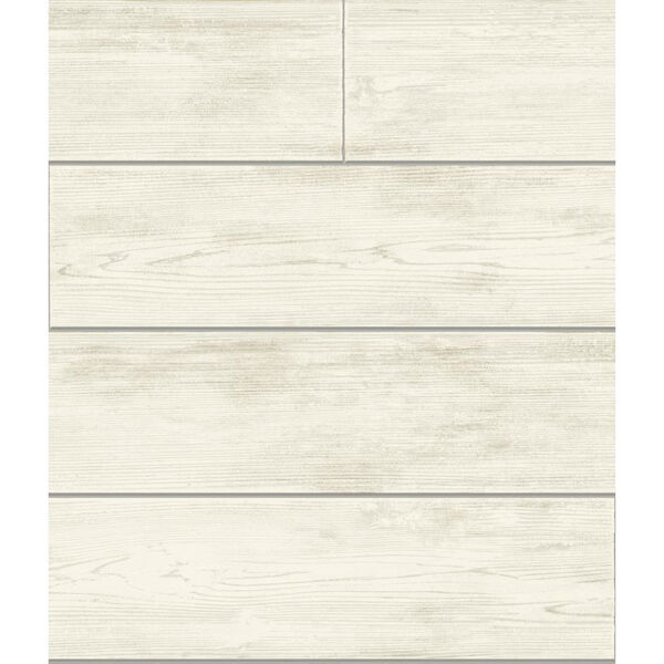 Shiplap Gray and Off White Removable Wallpaper, image 1