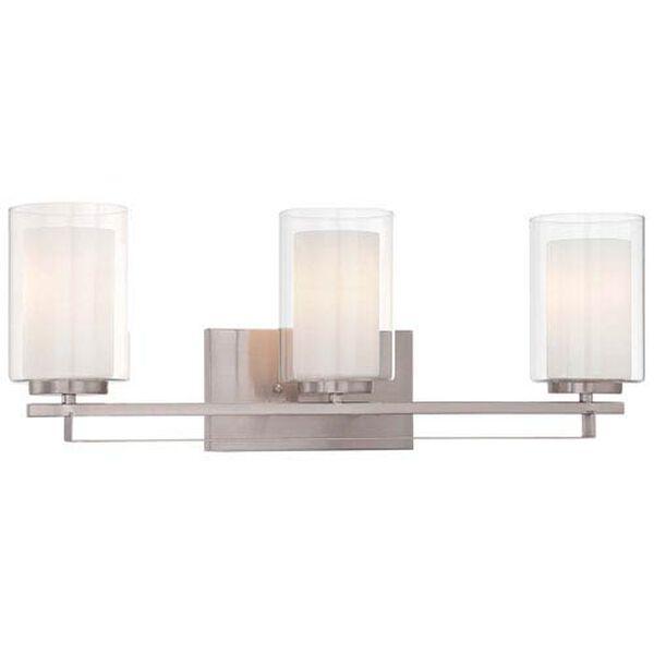 Harrow Brushed Nickel Three-Light Vanity - (Open Box), image 1
