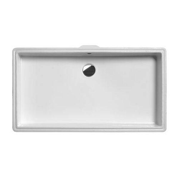 Ceramica Valdama White Bathroom Under-Mounted Sink, image 2
