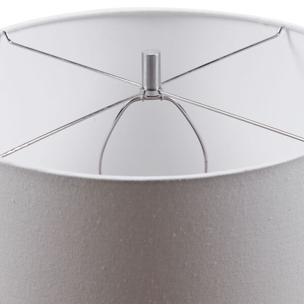 Sedna Blue and Brushed Nickel One-Light Table Lamp with Round Hardback Drum Shade, image 5